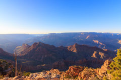Majestic Vista of the Grand Canyon at Dusk. Beautiful Landscape of Grand Canyon from Desert View Point during dusk royalty free stock photo