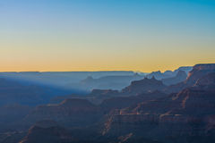 Majestic Vista of the Grand Canyon at Dusk. Beautiful Landscape of Grand Canyon from Desert View Point during dusk stock images