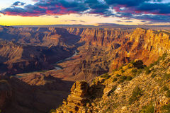 Majestic Vista of the Grand Canyon at Dusk Stock Images