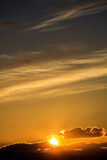 Majestic vivid sunset  over dark mountains Royalty Free Stock Photography