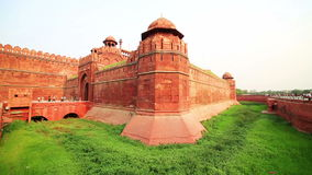 Majestic walls of Red Fort stock video footage