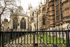 Majestic Westminster Abbey in London, Great Britain, cultural he. Westminster Abbey, formally titled the Collegiate Church of St Peter at Westminster, is a large Royalty Free Stock Images