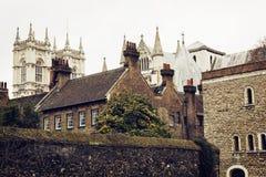 Majestic Westminster Abbey, London, Great Britain, tourist desti Stock Image