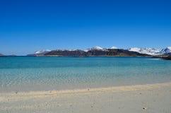 Majestic white springtime beach Stock Image