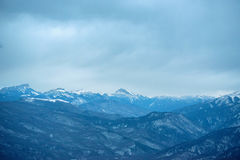 Majestic winter mountains panorama Royalty Free Stock Photo