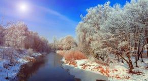 Majestik-Winterszene Stockfoto