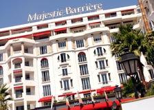 Majestätiskt Barriere lyxigt hotell - CANNES Arkivbilder