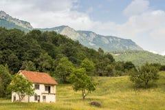 Majestueus bergenlandschap stock foto's