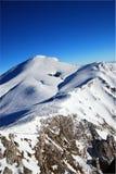 Majestueus de winterlandschap stock fotografie