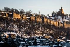 Majestueus kasteel Tsarevets Stock Foto's