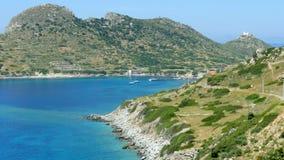 Majestueus leeg turkoois strand stock footage