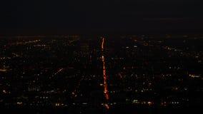 Majestueus panorama van Los Angeles van de binnenstad bij nacht stock footage