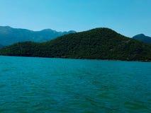 Majestueus Skadar-Meer montenegro stock afbeeldingen