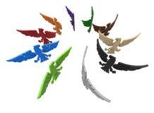 Majestueuze adelaars cirkelserie vector illustratie