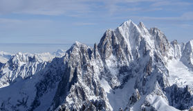 Majestueuze berg Aiguille Verte Royalty-vrije Stock Foto's