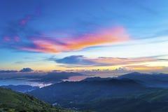 Majestueuze berg in de zomer Stock Foto's
