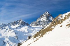 Majestueuze bergpiek in de Alpen Royalty-vrije Stock Foto