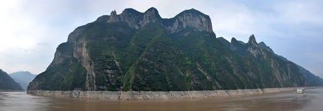 Majestueuze Drie Kloven en Yangtze-Rivier in Hubei-provincie in China royalty-vrije stock fotografie