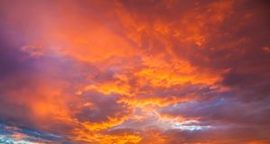 Majestueuze gouden zonsondergang Stock Foto
