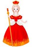 Majestueuze Koningin vector illustratie