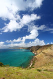 Majestueuze kustlijn van Heilige Kitts stock fotografie