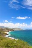 Majestueuze kustlijn van Heilige Kitts royalty-vrije stock fotografie