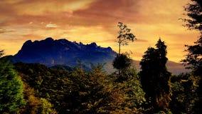 Majestueuze Mt Kinabalu Royalty-vrije Stock Foto