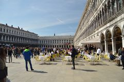 Majestueuze Piazza San Marco In Venice stock foto