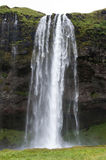 Majestueuze watervallen met rond rotsen en gras Royalty-vrije Stock Foto
