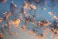 Majestueuze zonsondergang Royalty-vrije Stock Fotografie