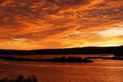 Majestueuze zonsondergang in Canada Stock Foto's