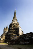 Majesty of Ayuttaya, ancient Thailand. Temples and pagodas in Ayutthaia, ancient capital of Thai kingdoms, near Bagkok Royalty Free Stock Photos