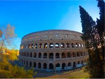 Majesty of the Colosseum. Shooting on a sunny day Royalty Free Stock Images