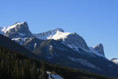 Majesty of rocky mountains, canada. Banff national park, winter, canada Stock Photography