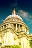 Majesty of St Paul Cathedral on a sunny day, London Stock Photos