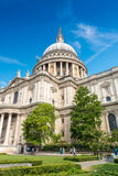 Majesty of St Paul Cathedral on a sunny day, London Stock Photography