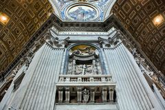 The majesty of St. Peter's Basilica Royalty Free Stock Photography
