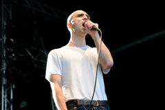 Majical Cloudz, electronic pop band fronted by singer-songwriter Devon Welsh, performance at Heineken Primavera Sound 2014 Festiva Stock Photos