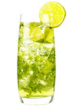 Majito with lime and ice Stock Image