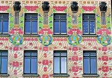 Majolikahaus Wien Royaltyfri Foto