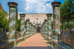 Majolikakloster in Santa Chiara-Komplex, Neapel, Italien lizenzfreie stockfotos