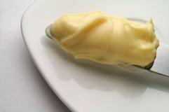 Majonäse auf einem Messer Lizenzfreies Stockfoto
