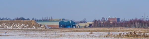 Majoppeveld przemysłu teren Roosendaal holandie, Holenderski przemysłowy krajobraz obrazy stock