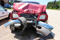 Major Accident, geschlagener Telefonmast Stockfotos