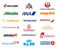 Major airlines logos collection Stock Photography