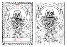 The major arcana tarot card. Death Vector Illustration