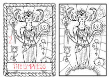 The major arcana tarot card. The empress Royalty Free Stock Photos