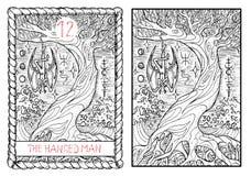 The major arcana tarot card. The hanged man Royalty Free Stock Image