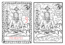 The major arcana tarot card. The hermit Stock Image