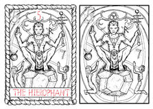 The major arcana tarot card. The hierophant Royalty Free Stock Photo